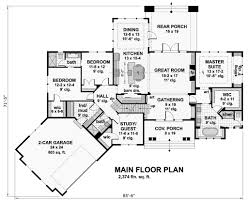 Craftsman Style House Floor Plans Craftsman Style House Plan 4 Beds 3 00 Baths 2374 Sq Ft Plan 51 569