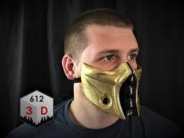 Mortal Kombat Scorpion Halloween Costume Mortal Kombat Inspired Scorpion Mask Cosplay Airsoft Mask