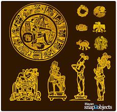 free vector aztec mayan elements 123freevectors