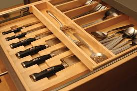 kitchen cabinet knife drawer organizers cardinal kitchens baths storage solutions 101 cultery storage