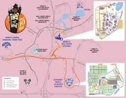Map Running Route by Twilight Zone Tower Of Terror 10 Miler U2013 The Map Running At Disney