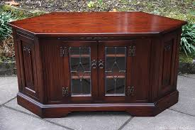 antique corner tv cabinet old charm tudor brown oak corner tv cabinet stand former glory