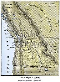 map of oregon country 1846 oregon territory stock photos oregon territory stock images alamy
