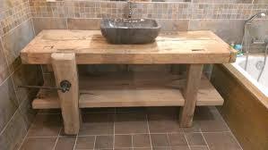 meuble de salle de bain original réalisation salle de bain vive les travaux