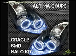 nissan altima headlights oracle 10 13 nissan altima 2dr led halo rings headlights bulbs
