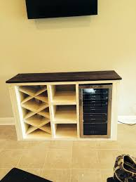 buffet with wine rack and storage for wine cooler by dyesdesign