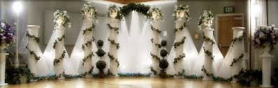 wedding backdrop tulle simply enchanting event purple teal turquoise wedding decoration