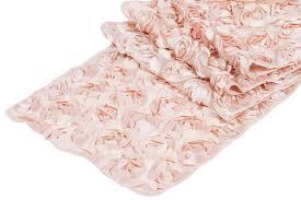 pink rosette table runner mini rosette on mesh table runner blush cv linens