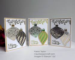 maudie papercraft stin up delicate ornaments cards