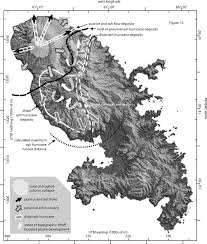 Martinique Map Distal Ash Hurricane Pyroclastic Density Current Deposits From A