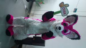 halloween mascot costumes cheap oisk real picture husky fox fursuit mascot costume long fur plush