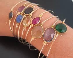 bracelet gemstone images Gemstone bangle etsy jpg