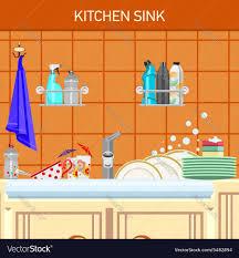 Kitchen Sink Clip Art Kitchen Sink Royalty Free Vector Image Vectorstock
