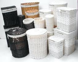White Wicker Bathroom Storage Bathroom Storage Baskets White Photogiraffe Me