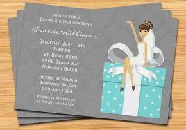 etsy wedding shower invitations blue bridal shower invitation