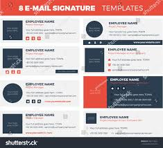 Free Email Signature Templates by Set 8 Flat Modern Email Signature Stock Vector 585114223