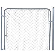 yardgard 6 ft x 6 ft galvanized metal adjustable single walk