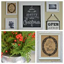almost free christmas art for our gallery wall christmas