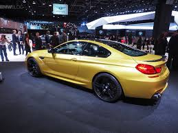2015 m6 bmw 2015 naias bmw m6 coupe facelift in yellow