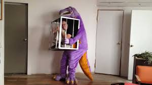dino halloween costume 3976 rex man in the cage youtube