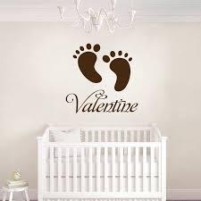 autocollant chambre bébé stickers empreinte