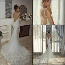 backless spaghetti mermaid 2015 beach wedding dresses with