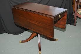 Drop Leaf Pedestal Table Mid 20th Century Mahogany Drop Leaf Regency Style Single Pedestal