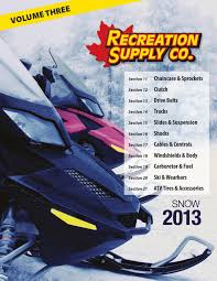 vol 3 u2013 2013 snow catalog by recreation supply co issuu