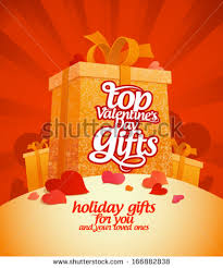 top s day gifts top valentines day gifts design template stock vector 166882838