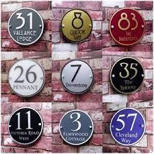 glass door number signs personalised house sign door number street address plaque modern
