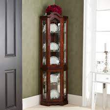 curio cabinet tall curio cabinet corner oaked glass wood display