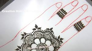 how to draw rose flower patch in henna mehandi design tutorial