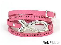 pink leather bracelet images Breast cancer awareness bracelets the quiet witness jpg
