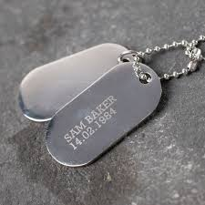 Personalized Dog Tags For Men Personalised Jewellery Gettingpersonal Co Uk