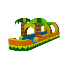 tropical palm trees water slide bounce house castle castle