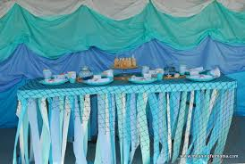 tablecloths decoration ideas a mermaid party