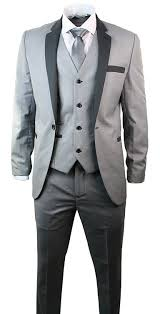 mens light gray 3 piece suit mens 3 piece light grey suit charcoal trim slim fit wedding party