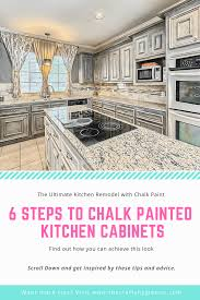 chalk paint kitchen cabinets diy