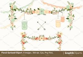 Garland by Floral Garland Illustrations Creative Market