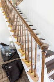 Banister Rails For Stairs Painting Staircase Balusters Without Losing Your Mind In My Own