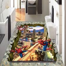 Spiderman Wallpaper For Bedroom Spider Man Custom Kitchen 3d Floor Photo Wallpaper Living Room