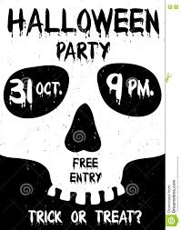 halloween party clipart halloween party poster with skull silhouette stock vector image