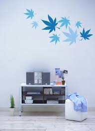 maple leaves wall decals looks particularly lovely today