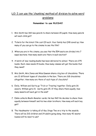 word problems using division by ecolady teaching resources tes