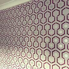 Reusable Wallpaper by Hicks Hexagon Repeating All Over Wallpaper Stencil Reusable