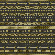 gold geometric ethnic seamless pattern wrapping paper