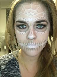 Day Of The Dead Halloween Makeup Ideas A Subtle Sugar Skull Done With Off The Shelf Makeup Halloween