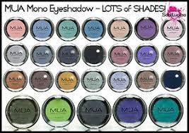 Makeup Mua mua makeup academy mono eyeshadow matte pearl smokey black green