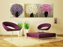 painting for bedroom 3 pcs hand painted modern canvas oil paintings thick flower tree