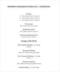 wedding programs templates sle wedding program template 9 documents in pdf